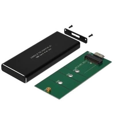Карман зовнішній для M2 NGFF жорсткого диска SSD, 6Гбс, USB 3.1, метал