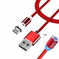 USB Type-C магнитный кабель Xiaomi Huawei LG, нейлон 2.4А 2м