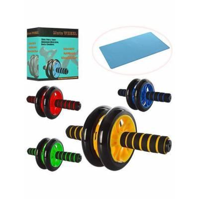 Гімнастичні спортивне фітнес колесо Double wheel Abs health abdomen