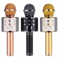 Микрофон караоке беспроводной с колонкой Bluetooth USB WSTER WS-858