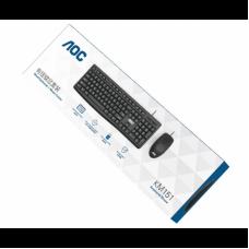 Комплект клавиатура+мышь USB AOC KM151