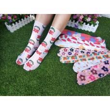 Носочки из сетки, кружевные носочки, носочки в цветы и рисунки