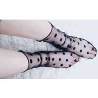 Чёрные полупрозрачные носочки для девушек