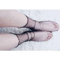 Чорні напівпрозорі шкарпетки для дівчат