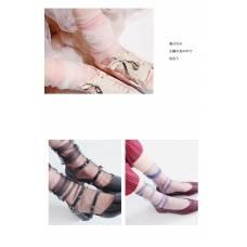 Прозрачные однотонные носочки для девушек