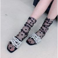 Носочки в горошек прозрачные в сеточку, капроновые носочки