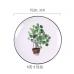 Тарелки керамические с разными рисунками растений, 6 видов