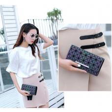 Гаманець в корейському стилі, портмоне з геометричним малюнком
