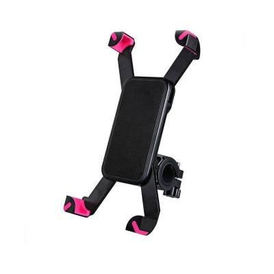 Универсальный держатель для телефона на руль велосипеда, мотоцикла розовые вставки