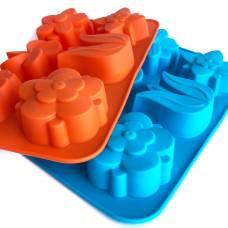 Силіконові формочки для тістечок, кексів, мафінів, капкейків, тортів, 26х17 см. квіти тюльпан