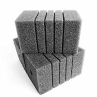 Фильтр -губка серая среднепористая квадратная  9х9х15см 1шт.
