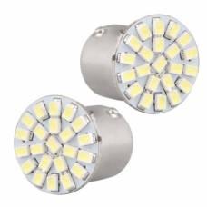 2x LED 1156 BA15S P21W лампа в автомобиль, 22 SMD