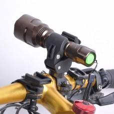 Тримач на руль для ліхтарика універсальне кріплення для ліхтаря на велосипед