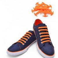 Ледачі шнурки силіконові для взуття, дитячі, пара