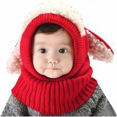 Детская шапочка из мягкой шерсти, шапка с ушками
