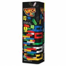 Настольная игра Дженга башня JENGA VEGA COLOR Джанга GVC-01U, 54 бруска