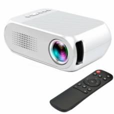 """Проектор мультимедійний портативний МІНІ LCD 24-60 """"AC3 YG320, білий"""