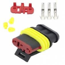 Разъем автомобильный электрический герметичный DJ7031-1.5 гнездо 3pin