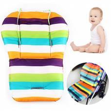 Мягкий матрасик подкладка для детской коляски стульчика автокресла, расцветки