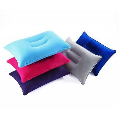 Надувная подушка наружная для путешествий на речку, море, озеро синего цвета