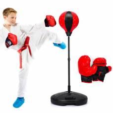 Боксерский набор для детей груша, мешок, перчатки, подставка