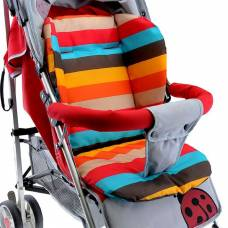 М'який матрацик непромокаючий підкладка для дитячої коляски стільчика автокрісла, кольори