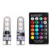 2X LED W5W T10 лампа в автомобіль з пультом дистанційного керування ласпочка в машину 6 SMD, 16 кольорів