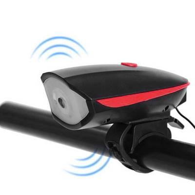 Велофара передний фонарь светодиодный  с звонком велофонарь с выносной кнопкой для велосипеда с USB зарядкой