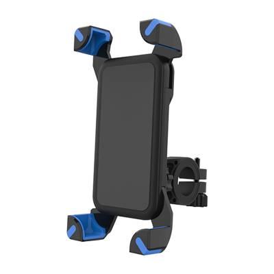 Универсальный держатель для телефона на руль велосипеда, мотоцикла с голубыми вставками