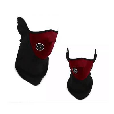 Теплая защитная маска, вело для шеи, лица красная