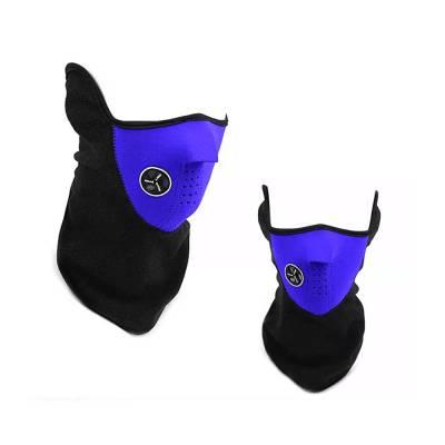 Теплая защитная маска, вело для шеи, лица синяя