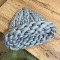 Шапка хельсинки крупной вязки из шерсти мериноса, расцветки