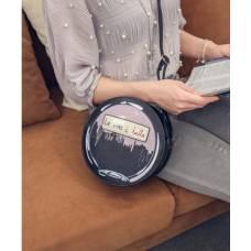 Элегантная женская сумка, круглая, черная, сумочка для девушки