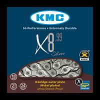 Велосипедная цепь с замком 8 скоростей, 116 звеньев KMC X8-99