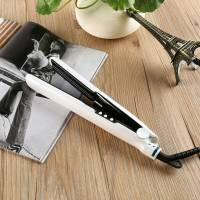 Паровой выпрямитель-утюжок керамический инструмент гафре для укладки для волос