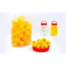 Набір м'ячів для настільного тенісу 60 штук в пластиковій банці, кульки для пінг понгу