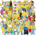 Стикеры Simpsons, наклейки, 50 шт