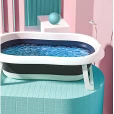Складная детская ванночка, цвета синий и зеленый
