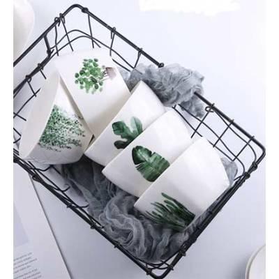 Супницы керамические, супницы с рисунками растений, чашки фарфоровые для супа 6 видов