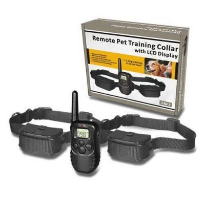Нашийник електронний для дресирування 2 собак з пультом дистанційного керування (2 приймача 1 пульт)