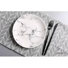 Керамическая тарелка Творческий мрамор 20 см