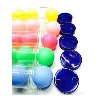 Набір м'ячів для настільного тенісу 6 штук в пластиковому тубусі кульки для пінг понгу