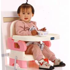 Детський складний обеденний стул кольору рожевий синій і коричневий