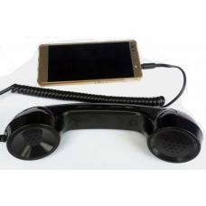 Упрощенная гарнитура в виде ретро трубки телефона под разьем 3,5 мм