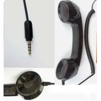 Спрощена гарнітура у вигляді ретро трубки телефону під роз'єм 3,5 мм