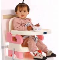 Детский складной обеденный стул цвета  розовый синий и коричневый