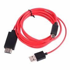MHL кабель USB, переходник с MicroUSB на HDMI, 1.8м 5pin