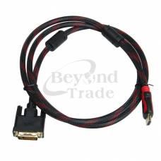 Кабель переходник DVI - HDMI 1.8м позолоченный