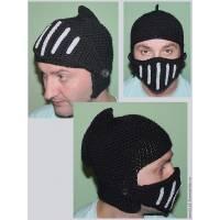 Вязаная шапка «Шлем рыцаря»