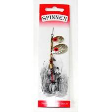 Вращающаяся тандемная блесна Spinnex, 6 г, Серебро